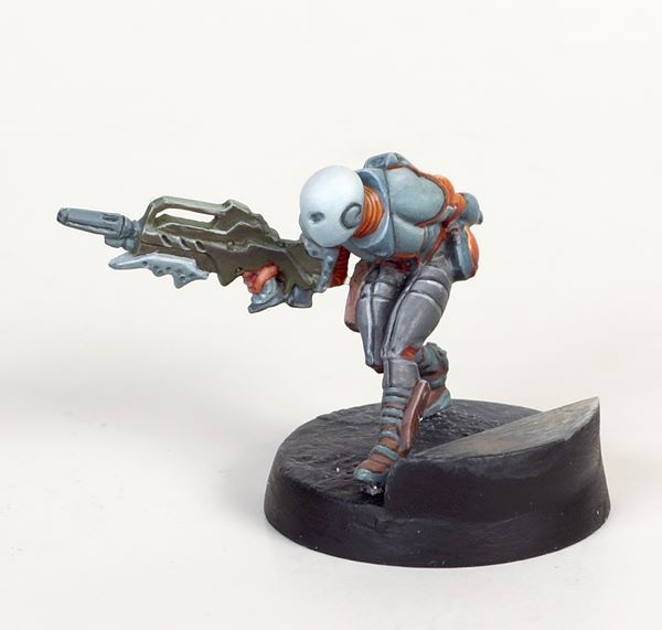 Infinity Nomad Zero by Corvus Belli. Painted by Tyler Provick