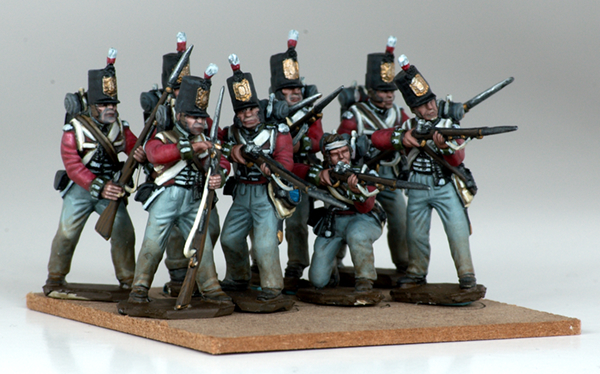 Incorporated Militia of Upper Canada, War of 1812. Victrix Miniatures painted by Tyler Provick