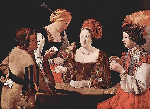 The Cheat with the Ace of Diamonds by Georges de la Tour c.1635