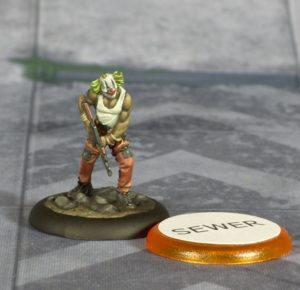 Batman Miniature Game Paper Token on Base Example